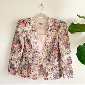 Vintage | Floral Blazer Top